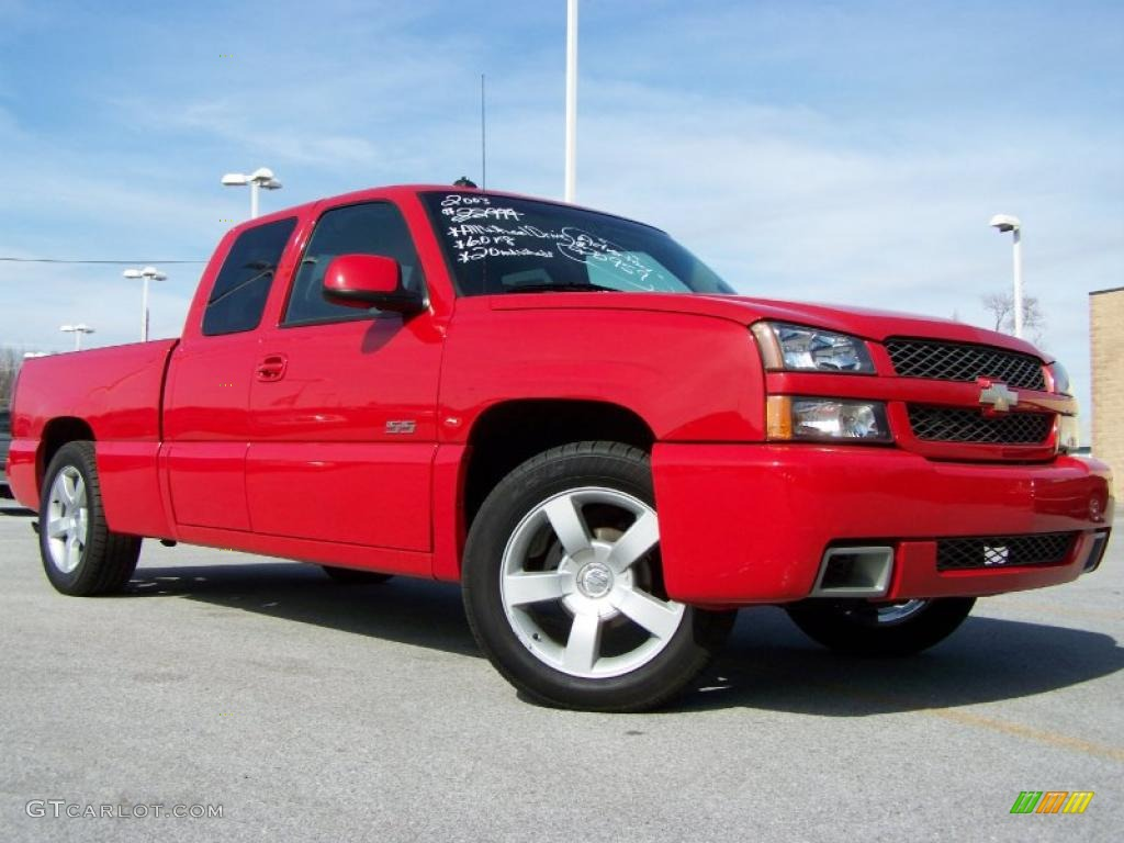 2003 victory red chevrolet silverado 1500 ss extended cab awd 27919610 car. Black Bedroom Furniture Sets. Home Design Ideas