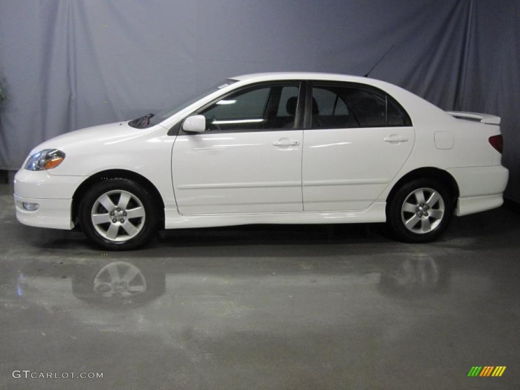 2007 Super White Toyota Corolla S 27920095 Photo 2