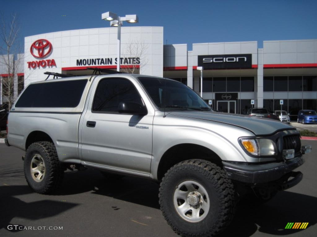2002 lunar mist metallic toyota tacoma regular cab 4x4 27992915 car color. Black Bedroom Furniture Sets. Home Design Ideas