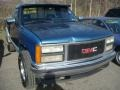 Brilliant Blue Metallic 1992 GMC Sierra 1500 SLE Regular Cab 4x4