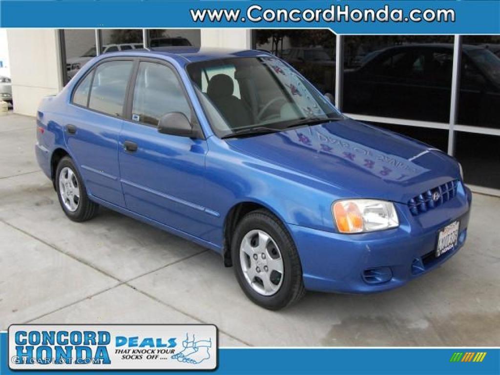 2002 coastal blue hyundai accent gl sedan 27992961 gtcarlot com car color galleries gtcarlot com