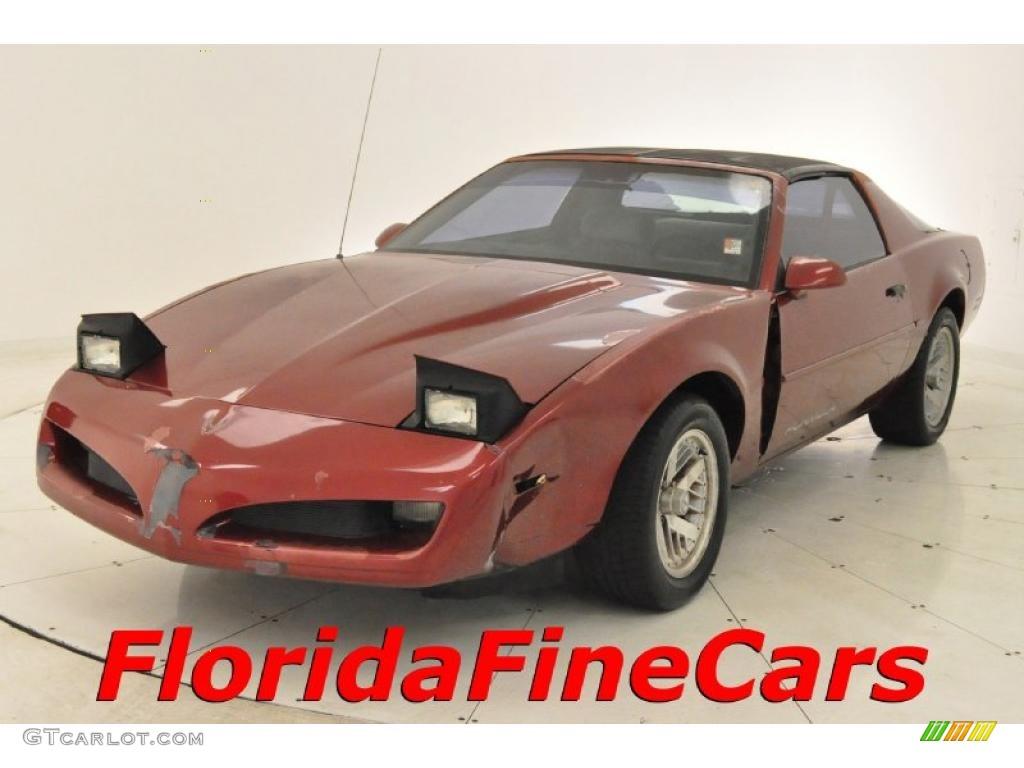 1991 Brilliant Red Metallic Pontiac Firebird Formula Coupe 27993119 Car Color