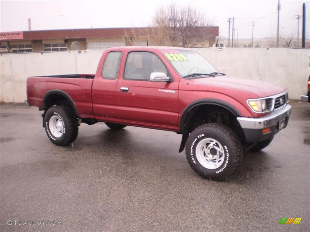 1996 Sunfire Red Pearl Toyota Tacoma Sr5 Extended Cab 4x4