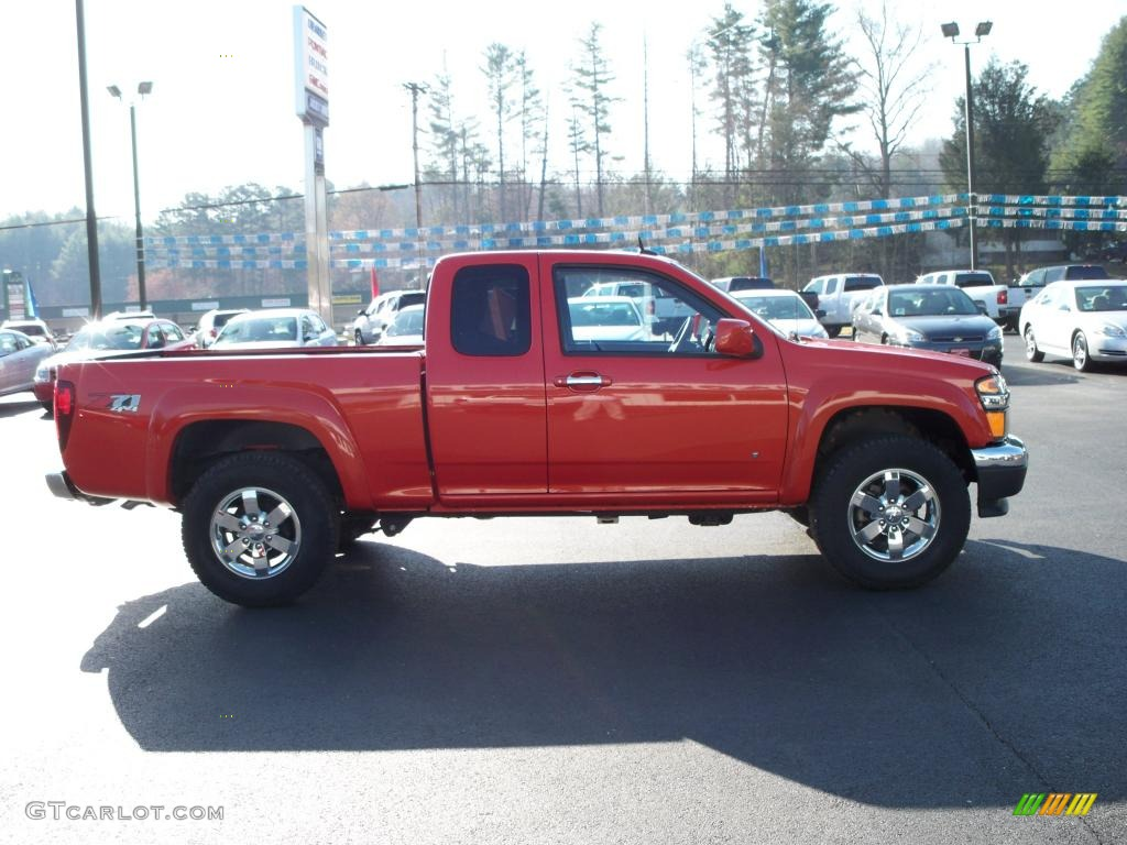 2009 inferno orange metallic chevrolet colorado z71 extended cab 4x4 28059723 photo 4. Black Bedroom Furniture Sets. Home Design Ideas