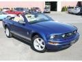 2007 Vista Blue Metallic Ford Mustang V6 Premium Convertible  photo #4