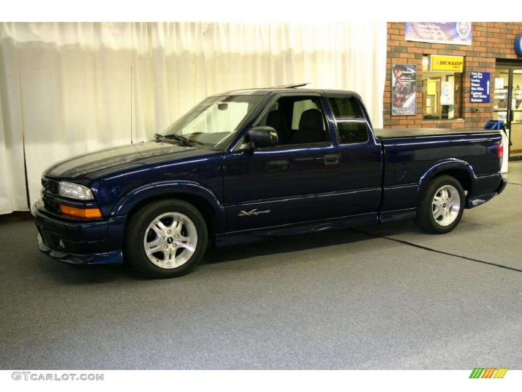 2003 indigo blue metallic chevrolet s10 xtreme extended cab 28059557 photo 8. Black Bedroom Furniture Sets. Home Design Ideas