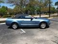 2007 Vista Blue Metallic Ford Mustang V6 Deluxe Convertible  photo #2