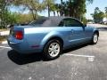 2007 Vista Blue Metallic Ford Mustang V6 Deluxe Convertible  photo #3