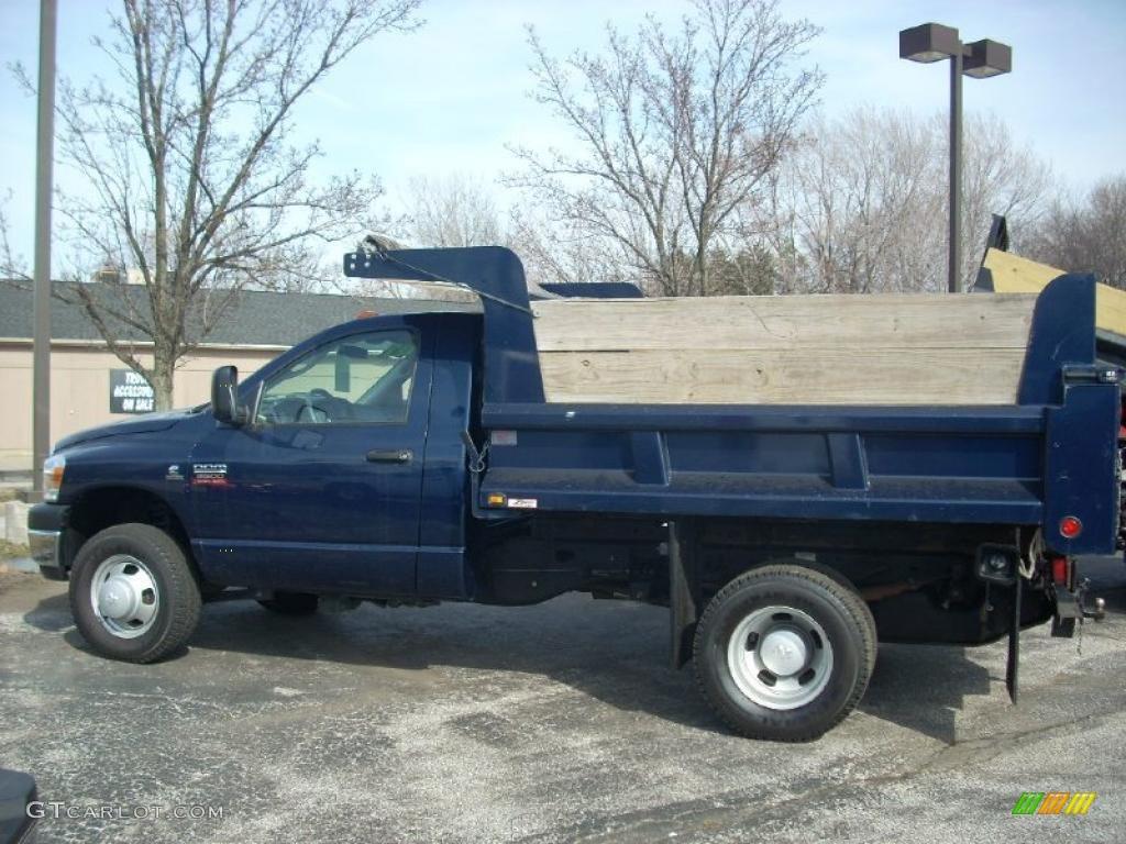 2007 Ram 3500 ST Regular Cab Chassis - Patriot Blue Pearl / Medium Slate Gray photo #1