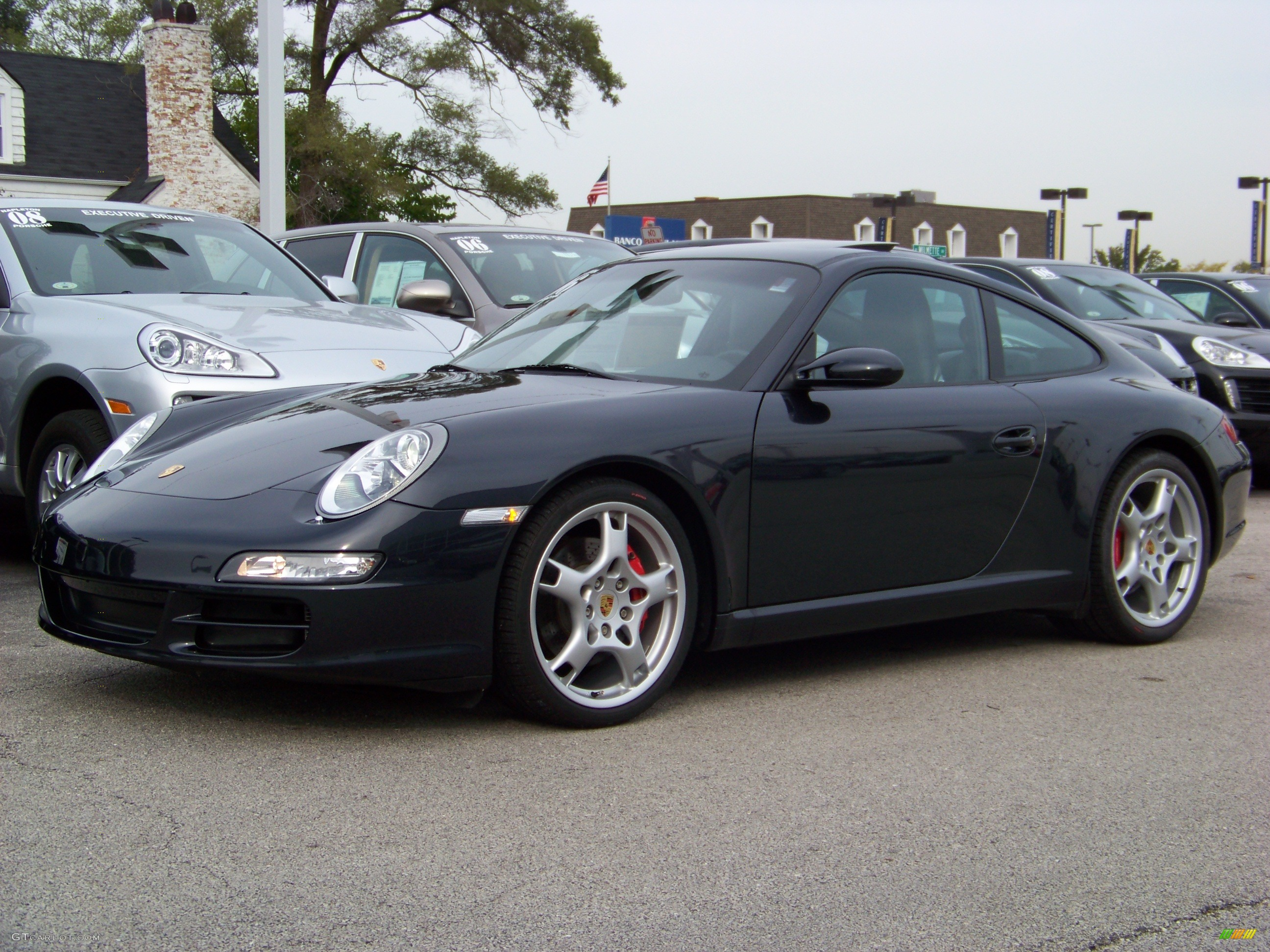 2006 911 Carrera S Coupe - Atlas Grey Metallic / Black photo #1