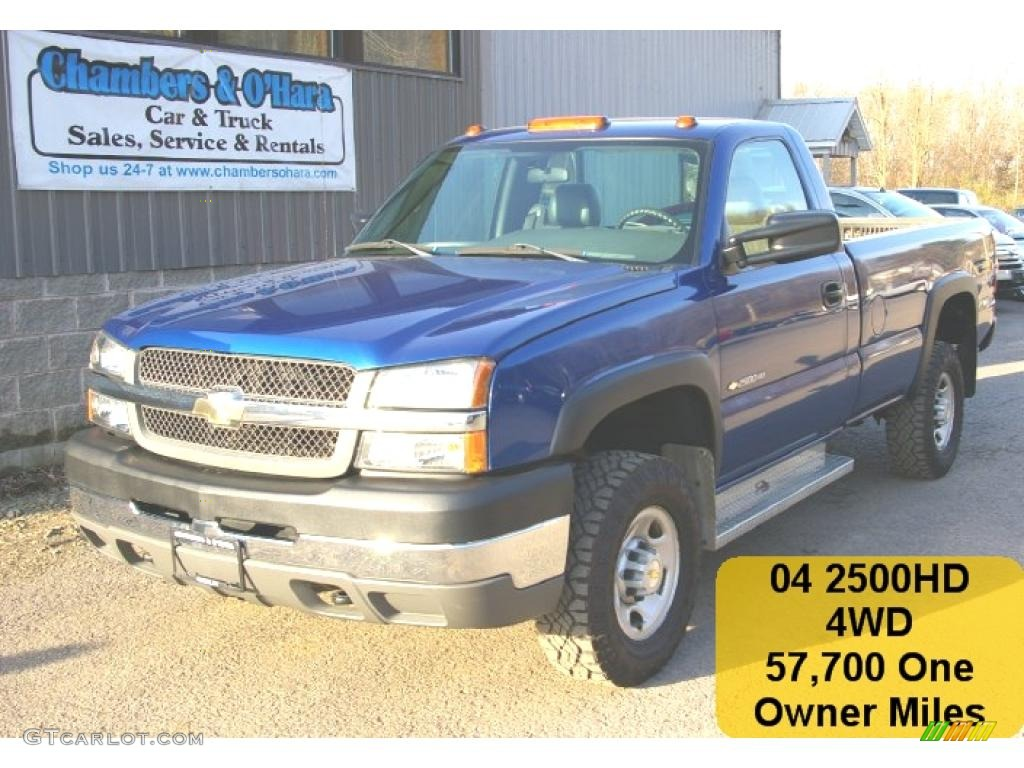 2004 arrival blue metallic chevrolet silverado 2500hd regular cab 4x4 28196430. Black Bedroom Furniture Sets. Home Design Ideas