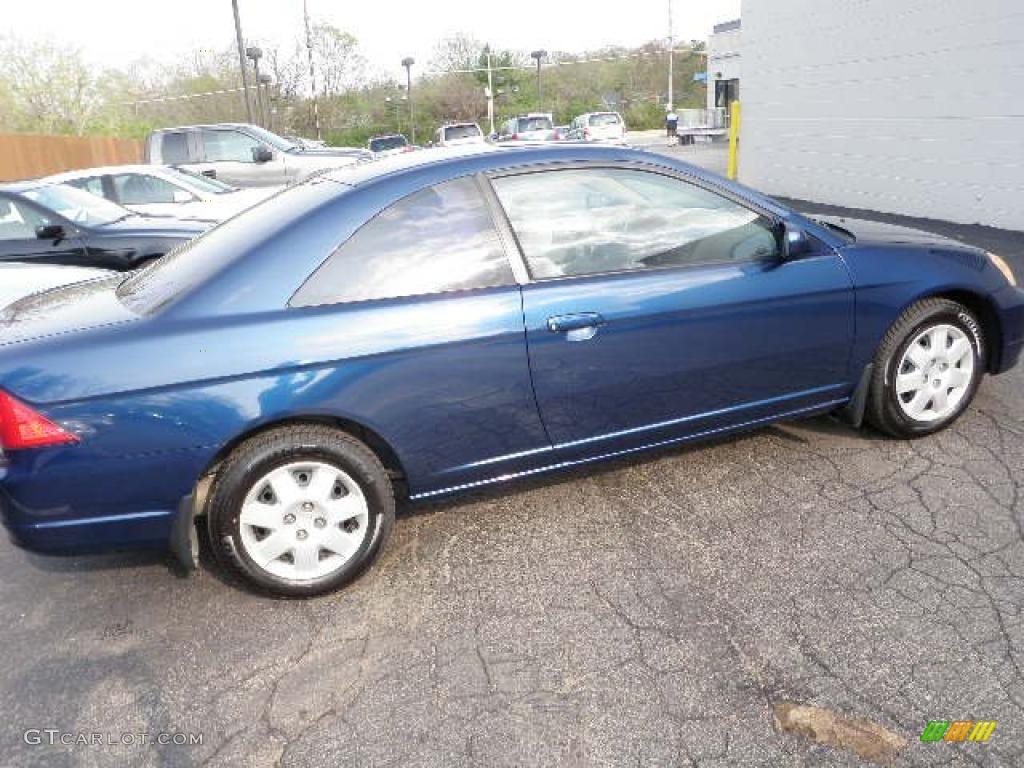 Eternal Blue Pearl Honda Civic Ex Coupe