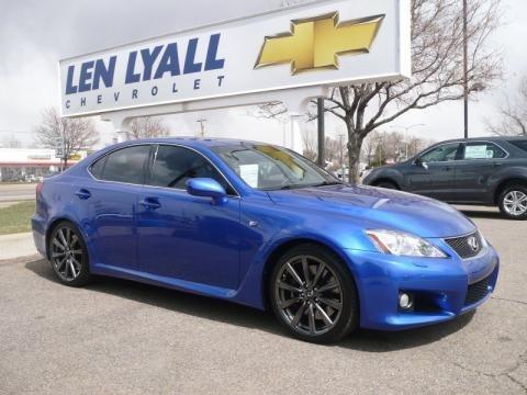 Lexus Isf Blue. Blue Mica Lexus IS F