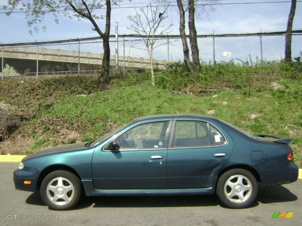1997 Blue Emerald Pearl Nissan Altima Gxe 28247199 Photo