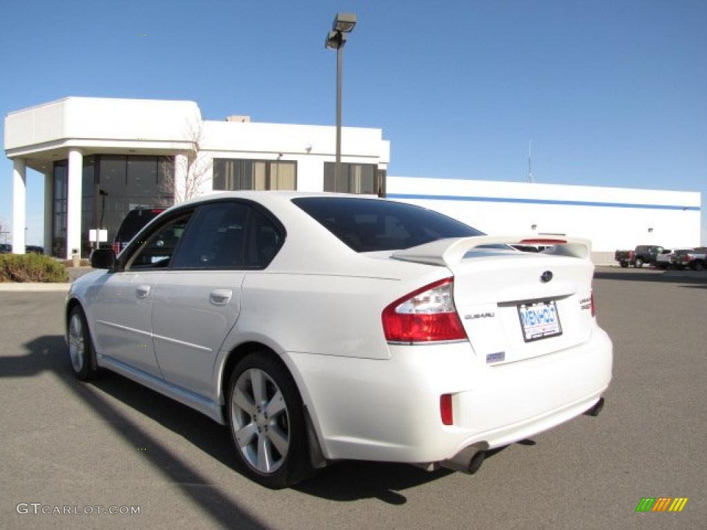 2008 satin white pearl subaru legacy 2.5 gt limited sedan