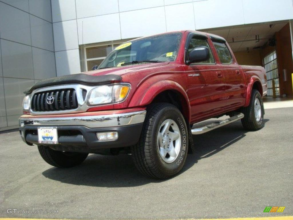 2004 impulse red pearl toyota tacoma v6 double cab 4x4. Black Bedroom Furniture Sets. Home Design Ideas