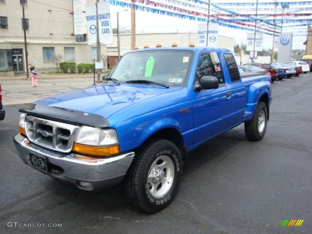 Bright atlantic blue metallic ford ranger