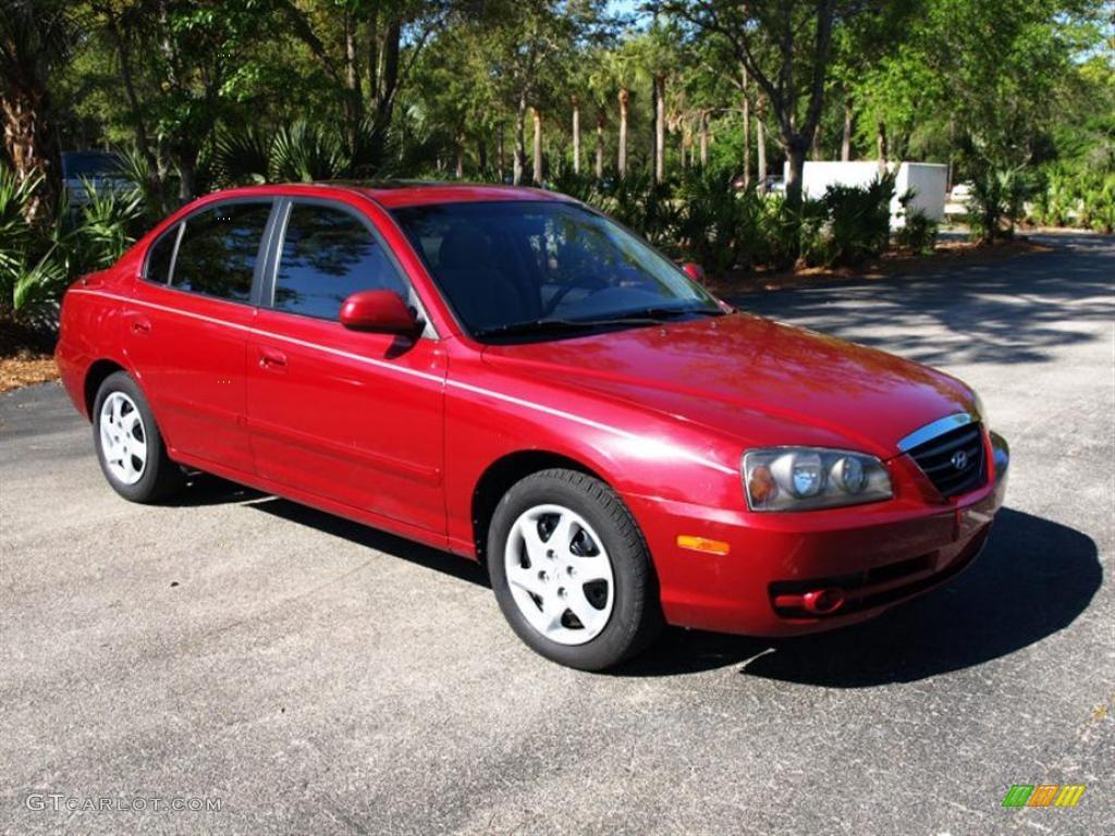 2005 Rally Red Hyundai Elantra Gls Sedan 28246693 Gtcarlot Com Car Color Galleries