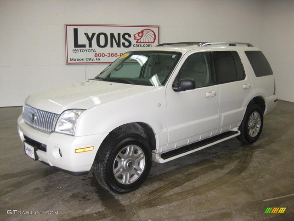 2003 Oxford White Mercury Mountaineer Premier Awd 28308173 Car Color Galleries