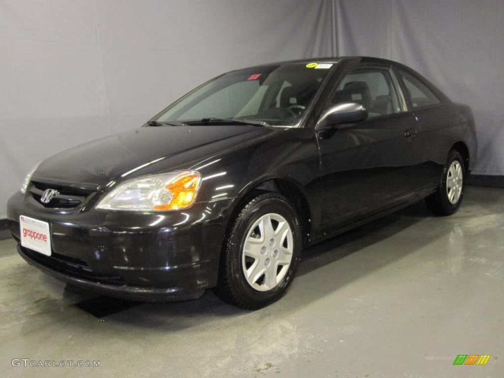 2003 nighthawk black pearl honda civic lx coupe 28312626. Black Bedroom Furniture Sets. Home Design Ideas