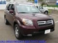 2007 Dark Cherry Pearl Honda Pilot EX-L 4WD  photo #5