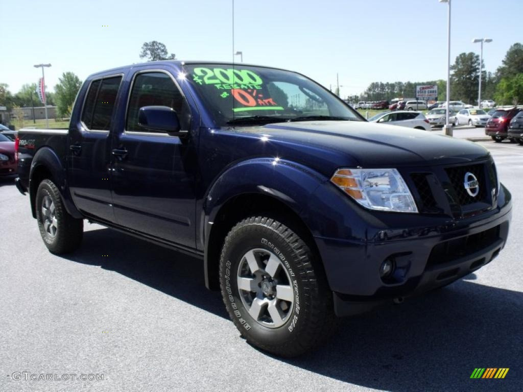 2010 navy blue nissan frontier pro 4x crew cab 4x4 28312485 photo 7 car color. Black Bedroom Furniture Sets. Home Design Ideas