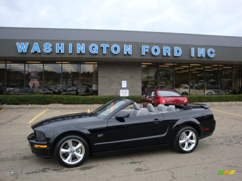 2007 Mustang GT Premium Convertible - Black / Light Graphite photo #1