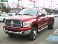 2008 Inferno Red Crystal Pearl Dodge Ram 3500 Big Horn Edition Quad Cab 4x4 Dually  photo #14