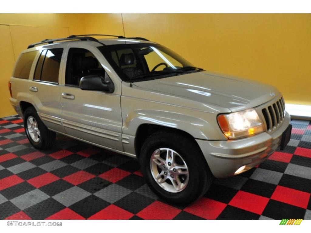 1999 Champagne Pearl Jeep Grand Cherokee Limited 4x4 28403148 Agate Photo 1