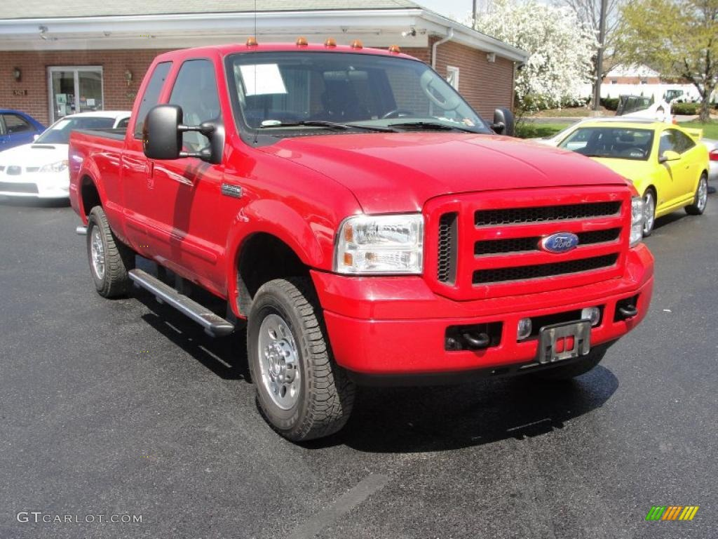 2005 red clearcoat ford f250 super duty xlt supercab 4x4 28403208 car color. Black Bedroom Furniture Sets. Home Design Ideas