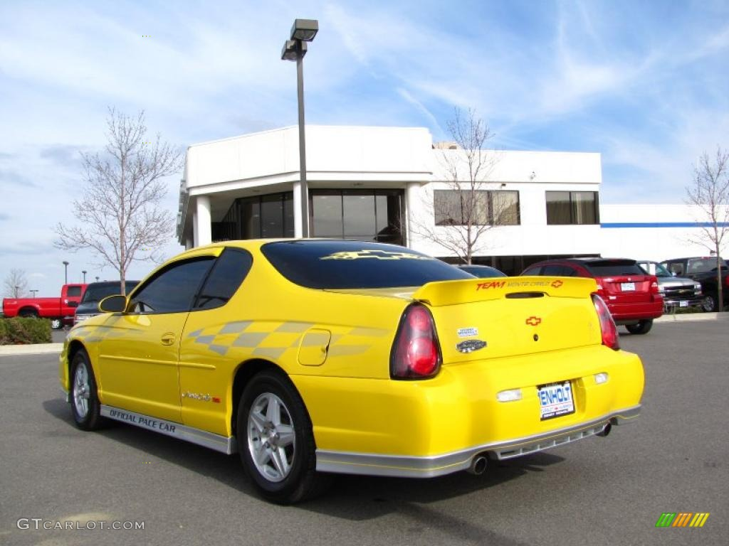 2002 Monte Carlo Ss Limited Edition Pace Car Compeion Yellow Ebony Photo 3
