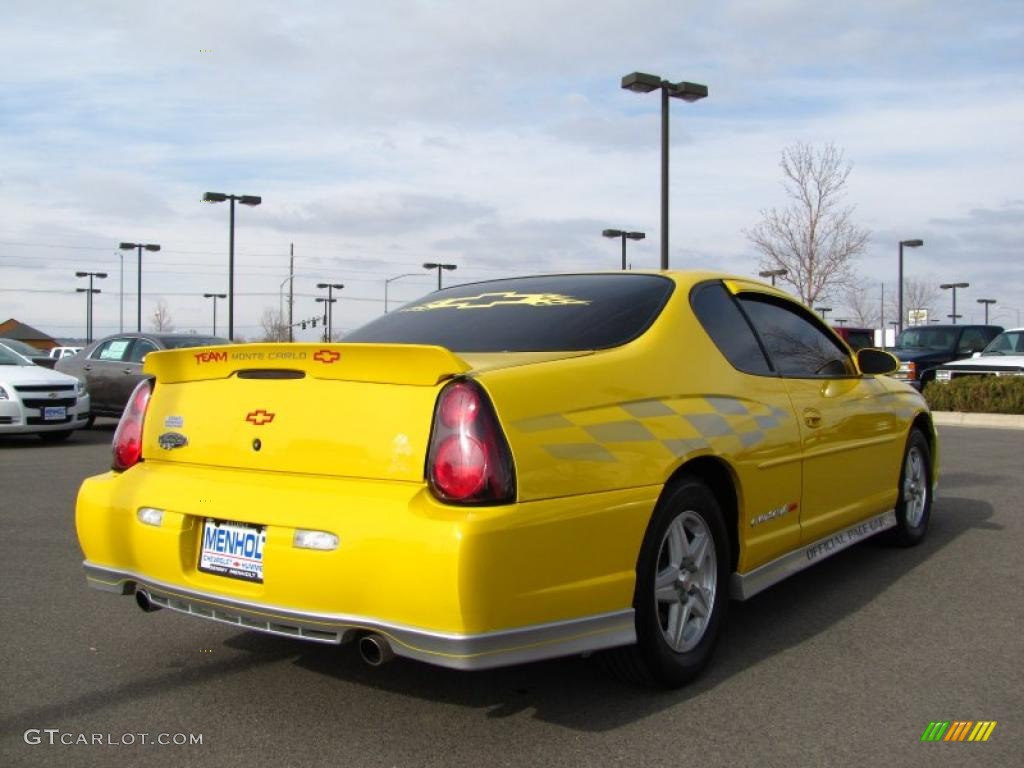 2002 Monte Carlo Ss Limited Edition Pace Car Compeion Yellow Ebony Photo 10