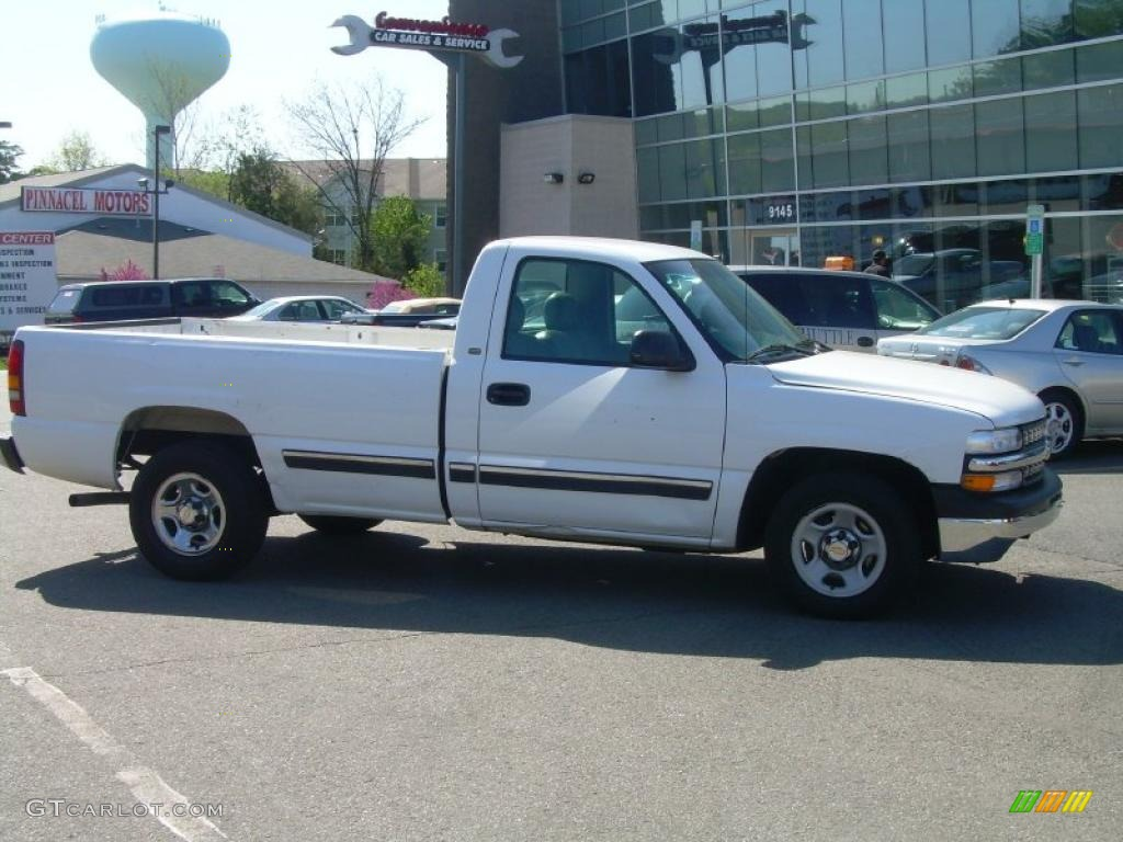 2000 Silverado 1500 Regular Cab - Summit White / Graphite photo #1