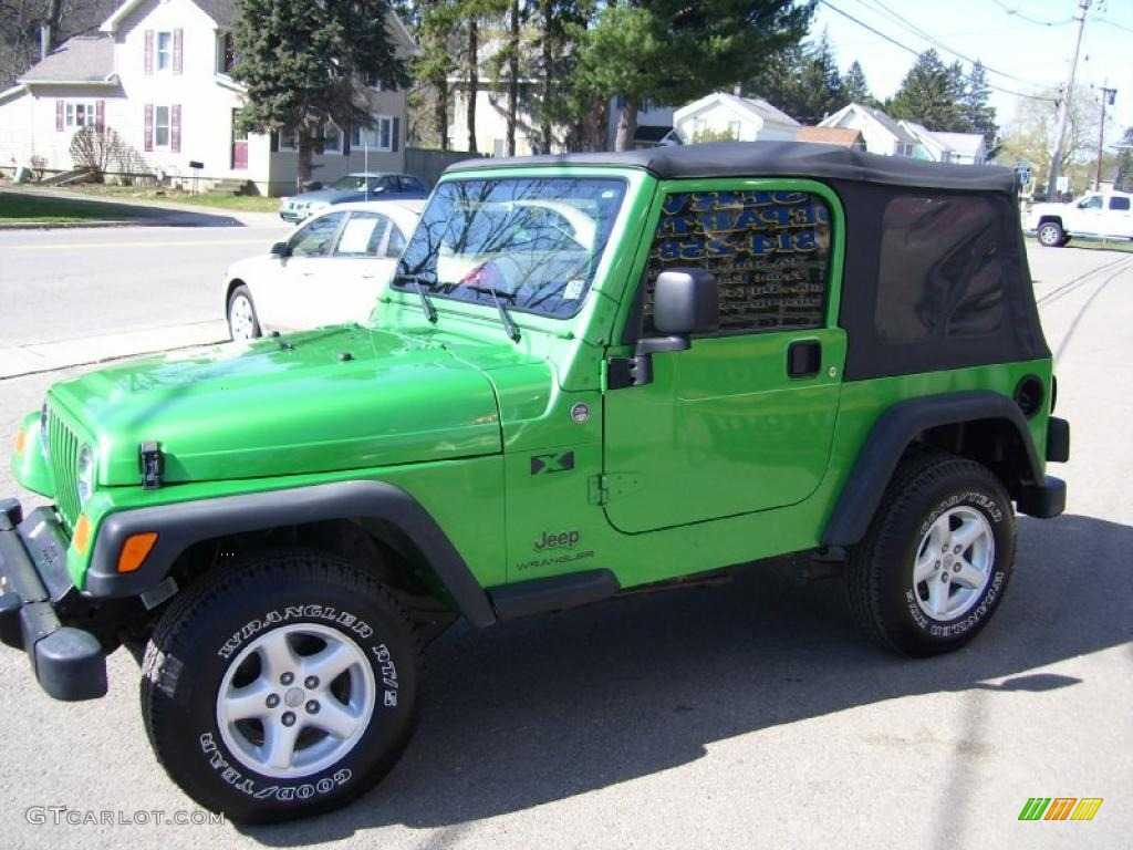2005 electric lime green pearl jeep wrangler x 4x4 #28402724