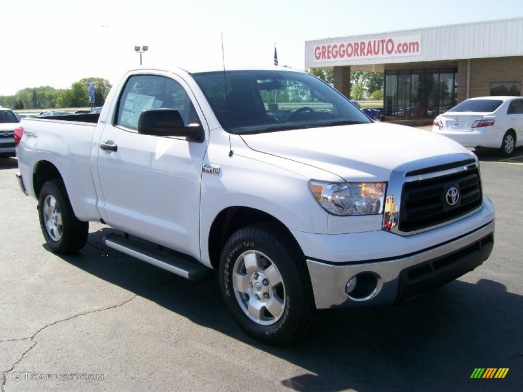 2010 super white toyota tundra regular cab 28461729 car color galleries. Black Bedroom Furniture Sets. Home Design Ideas