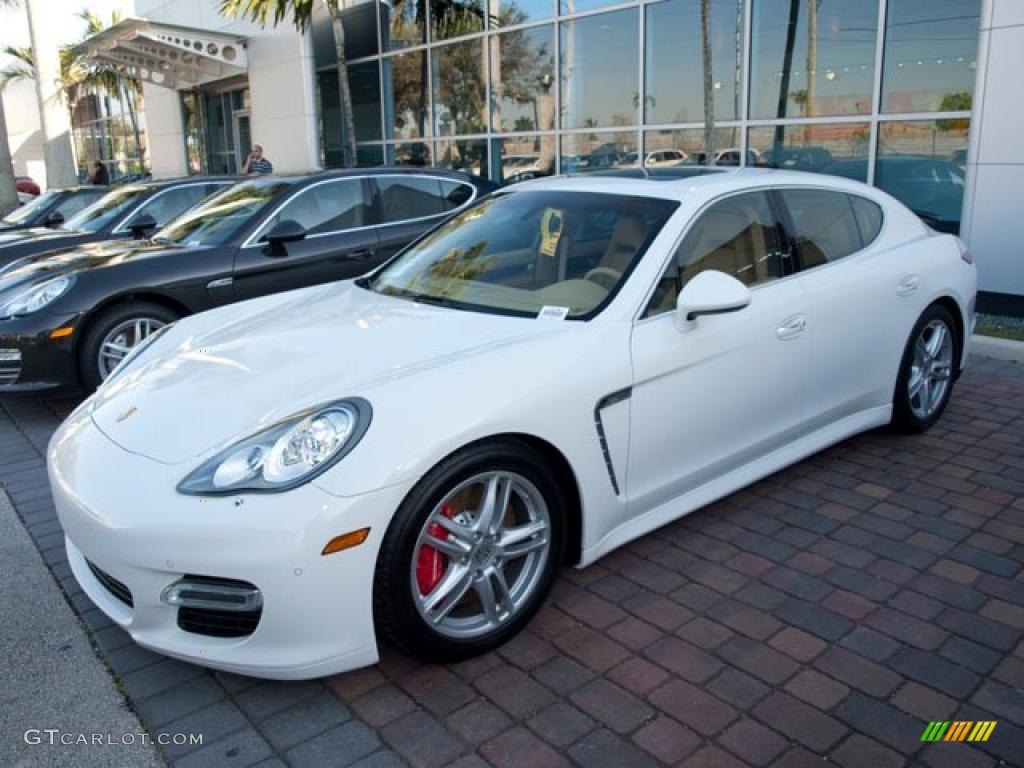 2010 panamera turbo carrara white luxor beige photo 2