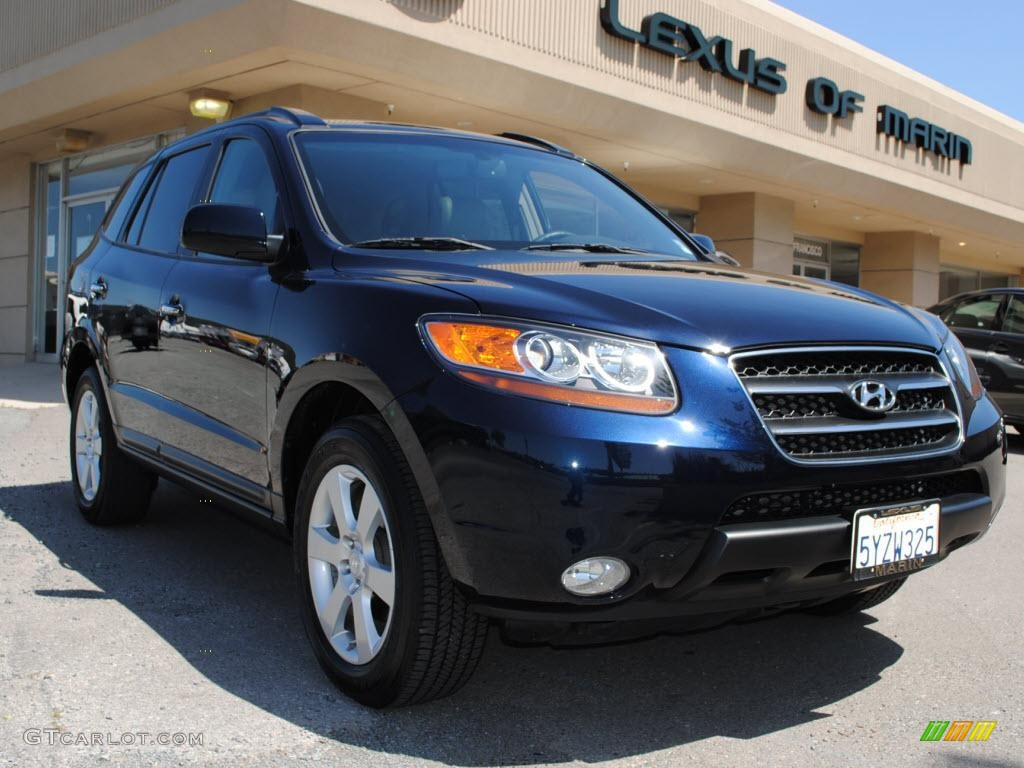2007 deepwater blue hyundai santa fe limited 4wd 28462022 car color galleries. Black Bedroom Furniture Sets. Home Design Ideas