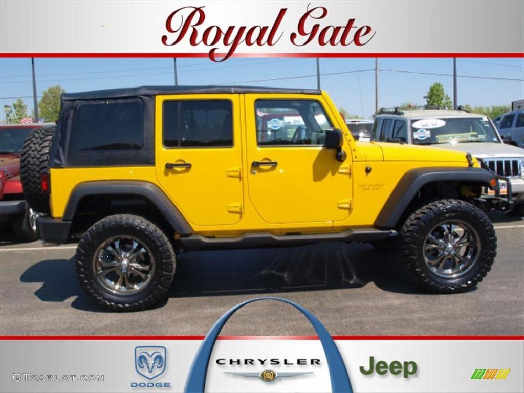 2007 Detonator Yellow Jeep Wrangler Unlimited X 4x4 28527379