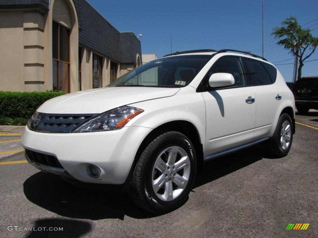 2007 Murano SL - Glacier Pearl White / Cafe Latte photo #3