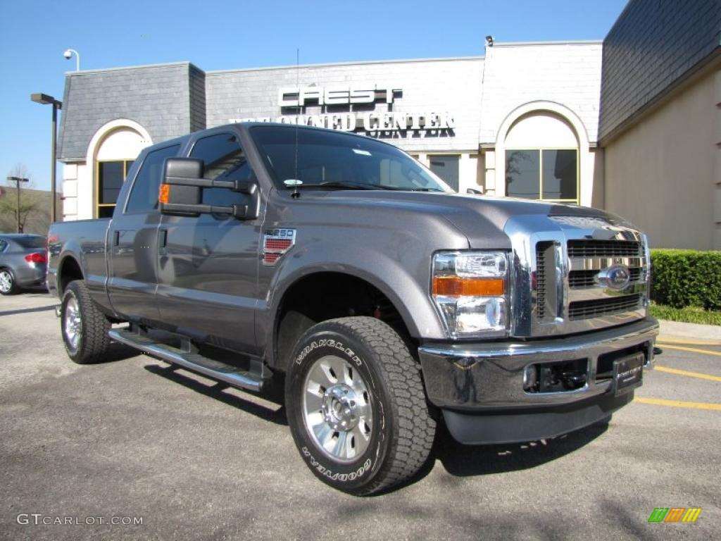 2009 sterling grey metallic ford f250 super duty lariat crew cab 4x4 28527894. Black Bedroom Furniture Sets. Home Design Ideas