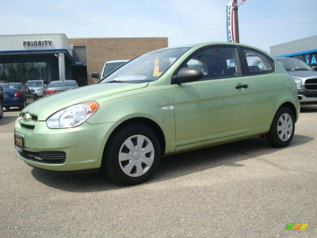 2007 Apple Green Hyundai Accent GS Coupe 28527427 Photo