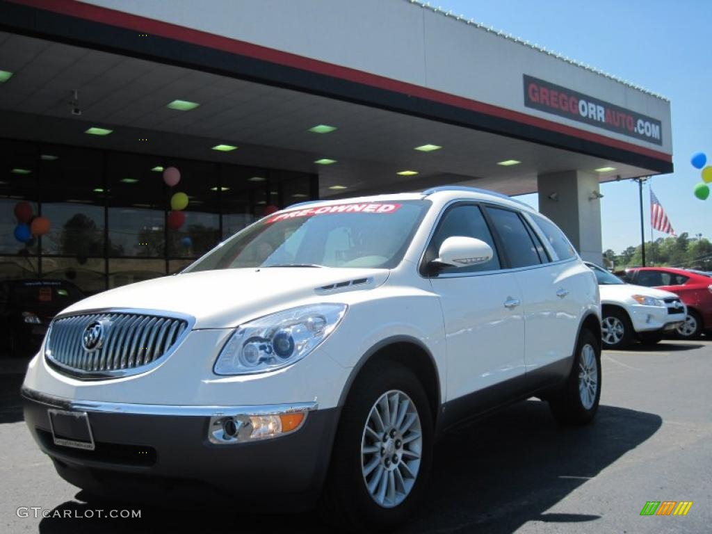 2009 Enclave CXL - White Opal / Ebony Black/Ebony photo #1