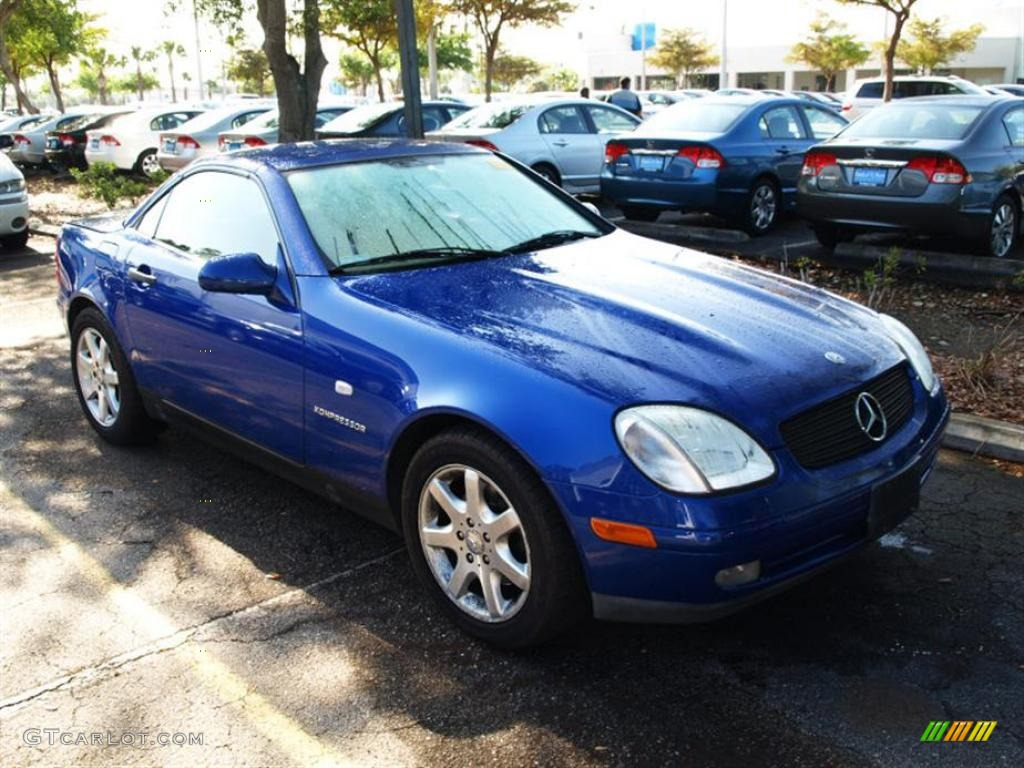 1998 bahama blue metallic mercedes benz slk 230 kompressor roadster 28527299. Black Bedroom Furniture Sets. Home Design Ideas