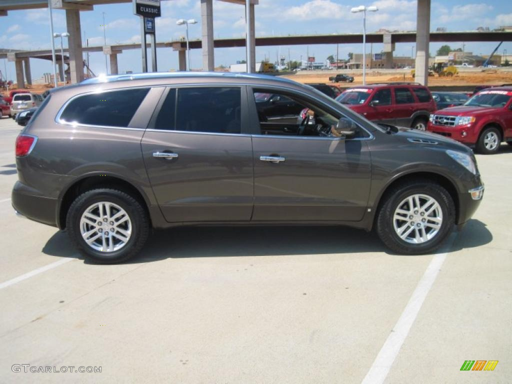 2008 Enclave CX - Cocoa Metallic / Cashmere/Cocoa photo #4