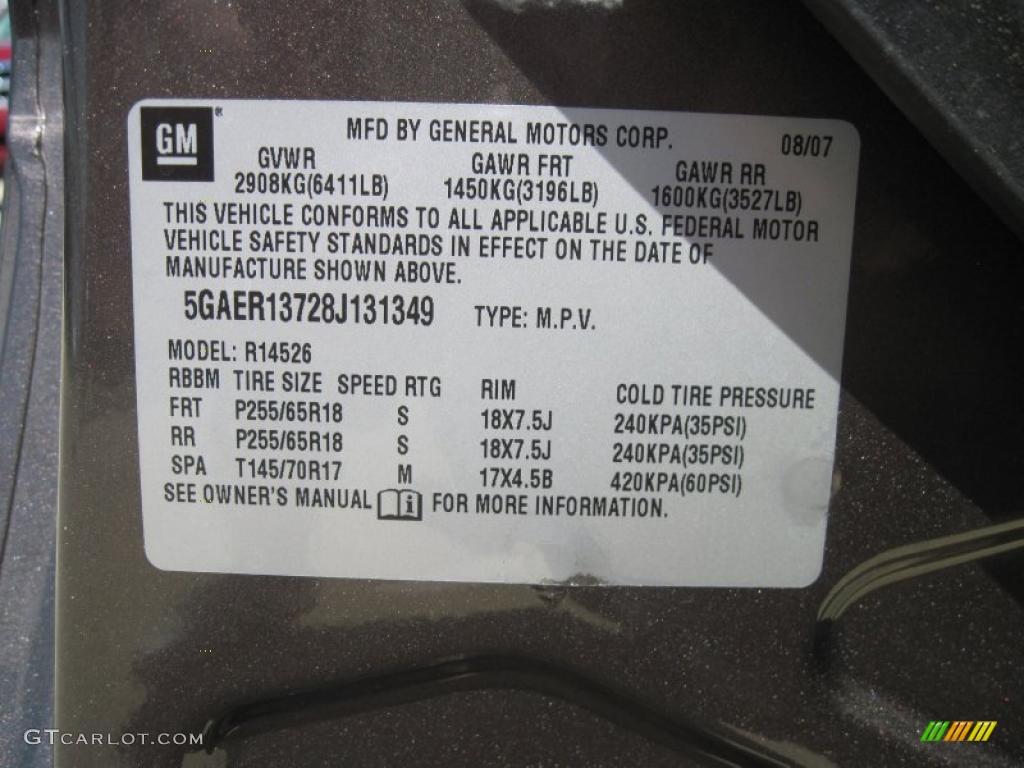 2008 Enclave CX - Cocoa Metallic / Cashmere/Cocoa photo #13