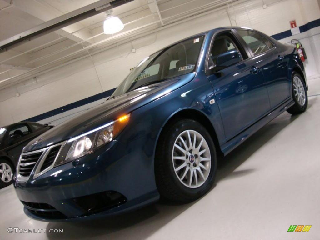 2008 fusion blue metallic saab 9 3 2 0t sport sedan. Black Bedroom Furniture Sets. Home Design Ideas