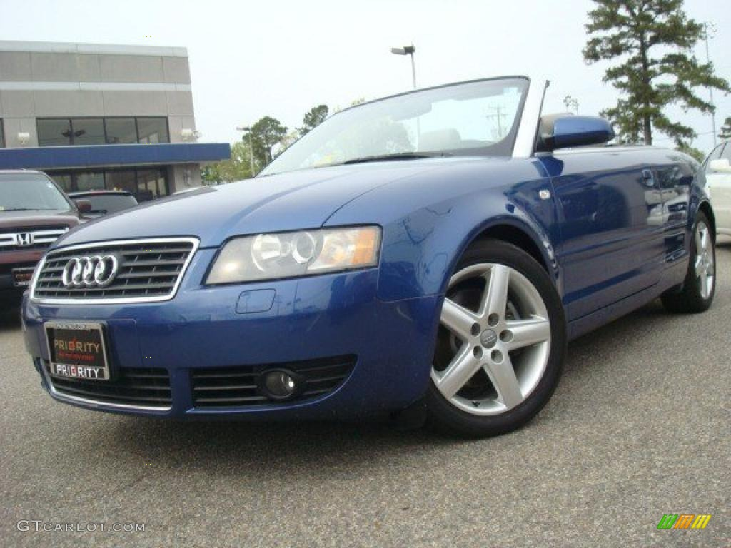 2003 caribic blue pearl audi a4 3 0 cabriolet 28527368 car color galleries. Black Bedroom Furniture Sets. Home Design Ideas