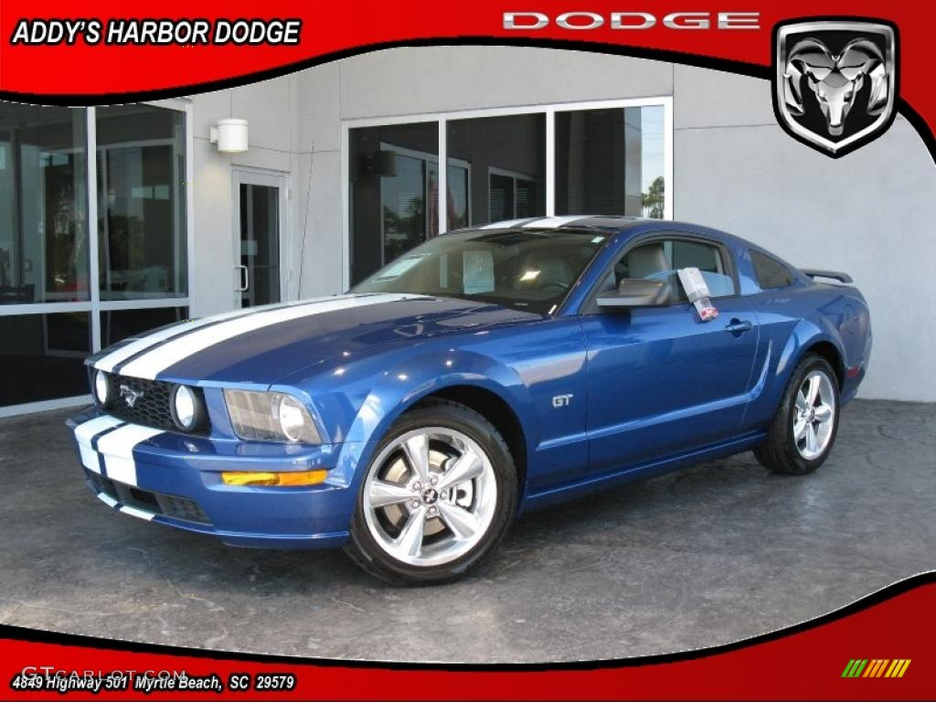2007 Mustang GT Premium Coupe - Vista Blue Metallic / Light Graphite photo #1