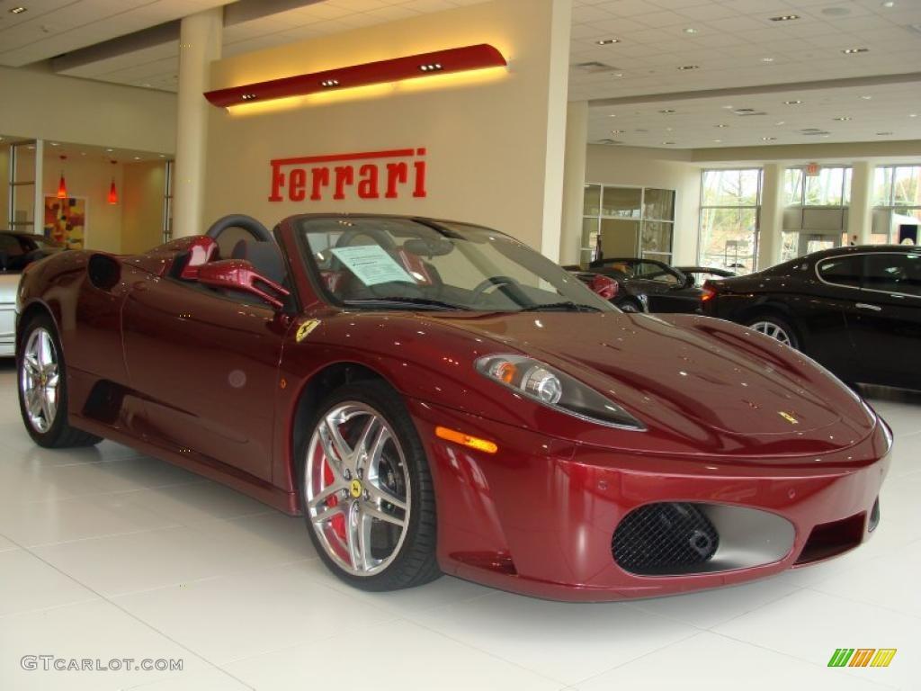 Dark Red Metallic 2007 Ferrari F430 Spider F1 Exterior