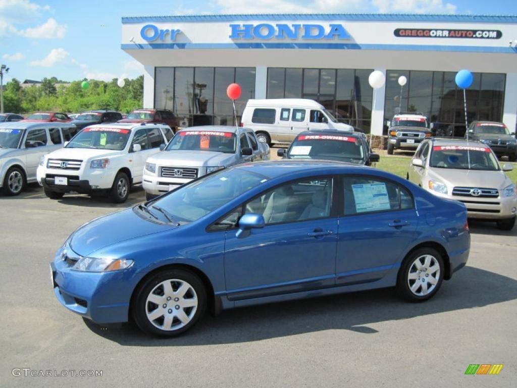 2010 Atomic Blue Metallic Honda Civic Lx Sedan 28595094